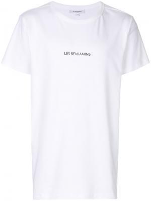 Футболка с принтом логотипа Les Benjamins. Цвет: белый