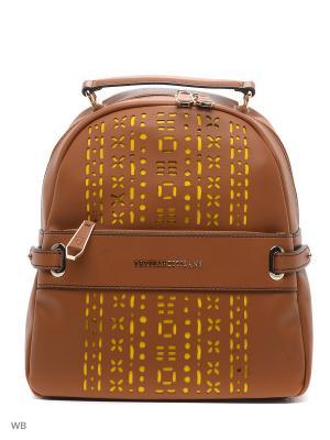 Рюкзак Trussardi. Цвет: темно-бежевый, белый, оранжевый