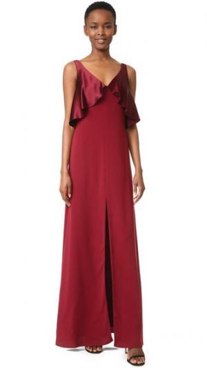 Вечернее платье с атласным накладным элементом Jill Stuart. Цвет: темно-красный