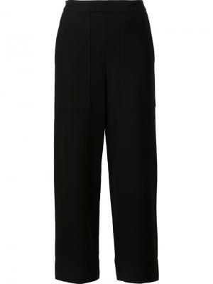 Укороченные брюки Lemaire. Цвет: чёрный