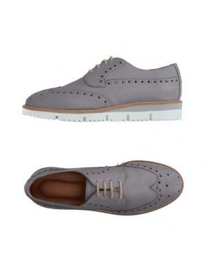 Обувь на шнурках JULIE DEE. Цвет: серый