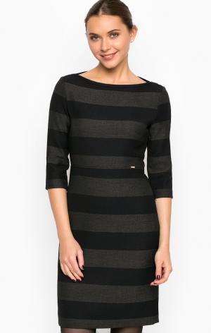 Платье Cinque. Цвет: полоска, серый