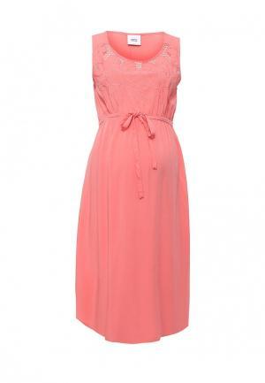 Платье Mamalicious. Цвет: коралловый