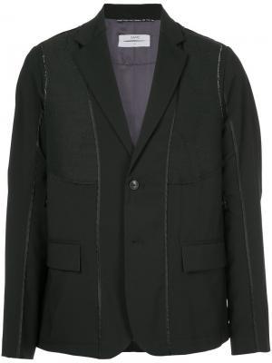 Пиджак с панельным дизайном Oamc. Цвет: чёрный