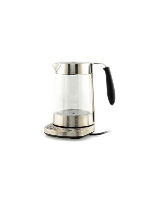 Чайник КТ-601N, 1,7 л.2500 Вт Kitfort. Цвет: серебристый