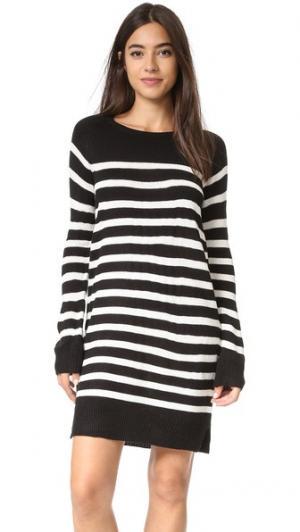 Платье-свитер Grand View в полоску cupcakes and cashmere. Цвет: голубой