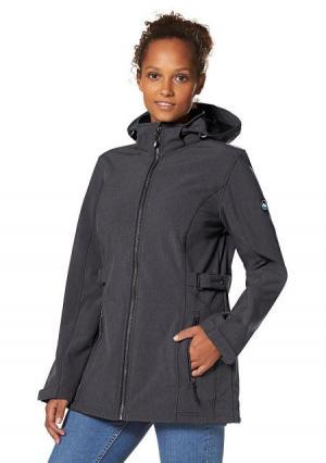 Куртка POLARINO. Цвет: темно-серый/меланжевый