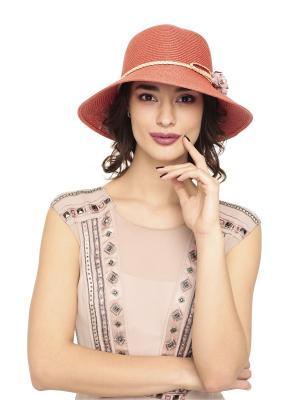 Шляпа NF label. Цвет: терракотовый, золотистый