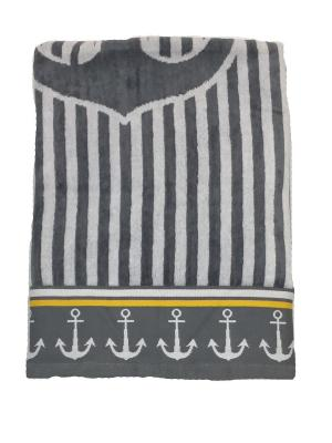 Полотенце банное A and C Collection. Цвет: серый