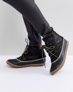 Sorel Черные непромокаемые кожаные ботинки Out N About. Цвет: черный