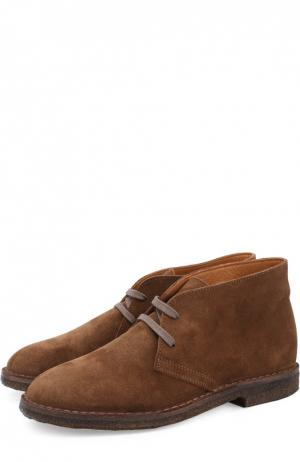 Замшевые ботинки на шнуровке Uit. Цвет: светло-коричневый