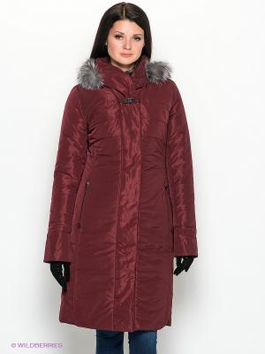 Пальто D`imma. Цвет: бордовый