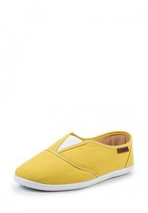 Слипоны Moleca. Цвет: желтый