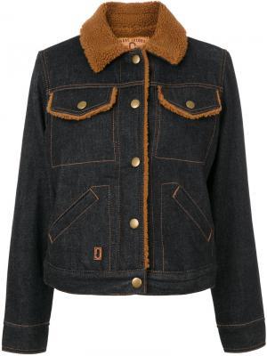 Denim shearling jacket Marc Jacobs. Цвет: синий