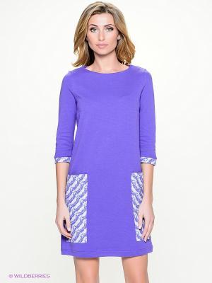 Платье Анна Чапман. Цвет: фиолетовый