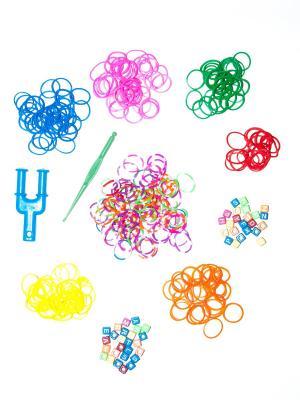 Резинки для плетения и причесок Bizon. Цвет: прозрачный, красный, оранжевый, розовый, зеленый