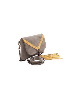 Поясная сумочка Eshemoda. Цвет: коричневый, желтый