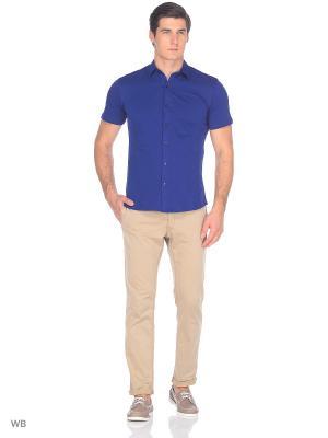 Рубашка JB casual. Цвет: темно-синий