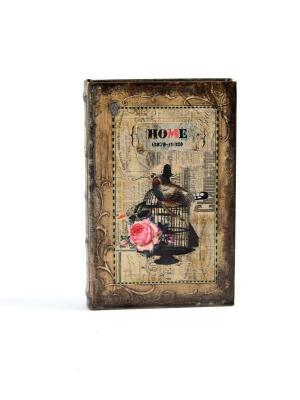 Шкатулка-фолиант Роза 21*14*3см Русские подарки. Цвет: темно-коричневый, светло-коричневый