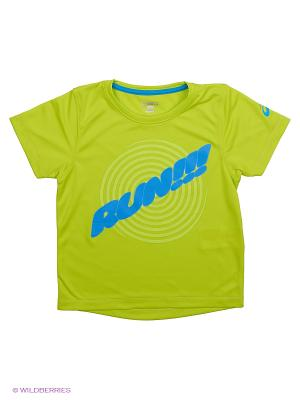 Футболка SHORT SLEEVE GRAPHIC TOP ASICS. Цвет: желтый