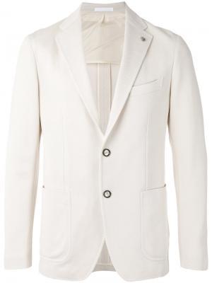 Пиджак на двух пуговицах Tagliatore. Цвет: белый