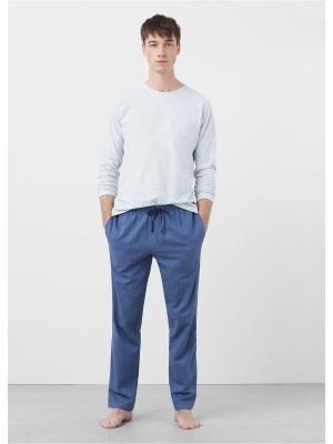 Пижамный комплект  PYHERRI MANGO MAN. Цвет: серый
