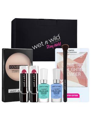 Набор в подарочной коробке WET&WILD №157 Wet n Wild. Цвет: черный, лиловый, розовый