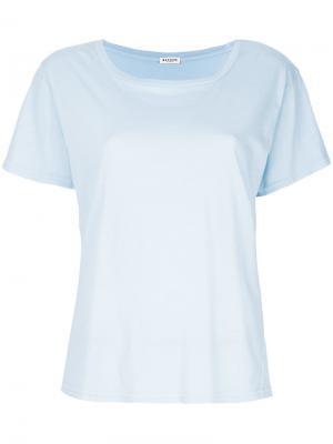 Классическая однотонная футболка Masscob. Цвет: синий