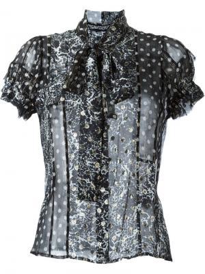 Прозрачная блузка с принтом Haider Ackermann. Цвет: чёрный