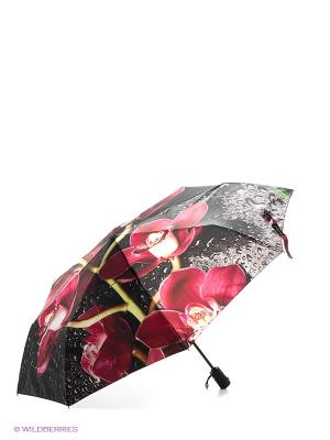 Зонт Flioraj. Цвет: черный, зеленый, фуксия