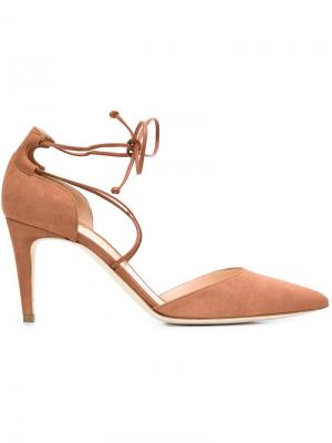 Туфли-лодочки с ремешками Rupert Sanderson. Цвет: телесный