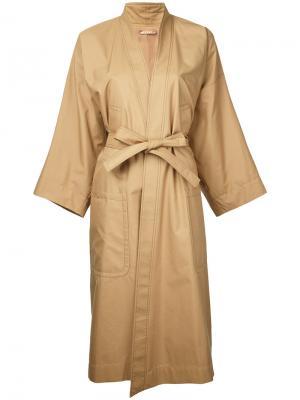 Carmen kimono coat Nehera. Цвет: коричневый