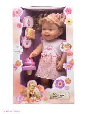 Кукла Ем мороженое, 38см Lisa Jane. Цвет: розовый