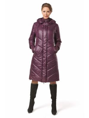 Стеганое пальто DizzyWay. Цвет: фиолетовый
