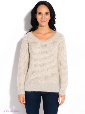 Пуловер GUESS. Цвет: молочный, золотистый