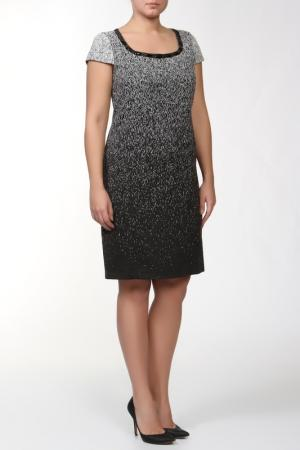 Платье свободного кроя, отделка-декоративные каменья GOLD. Цвет: черный, белый
