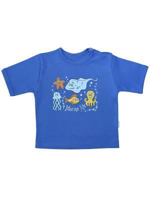 Футболка Веселый малыш. Цвет: синий,голубой