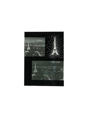 Фоторамка Ночной Париж Русские подарки. Цвет: черный