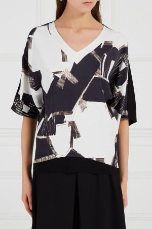 Блузка с абстрактным принтом Adolfo Dominguez. Цвет: multicolor
