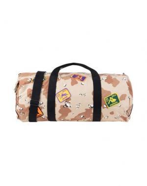 Дорожная сумка PALM ANGELS. Цвет: бежевый