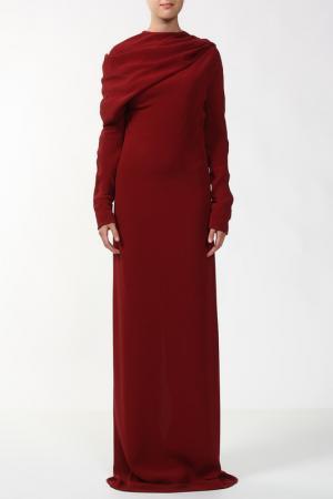 Платье Haider ackermann. Цвет: красный