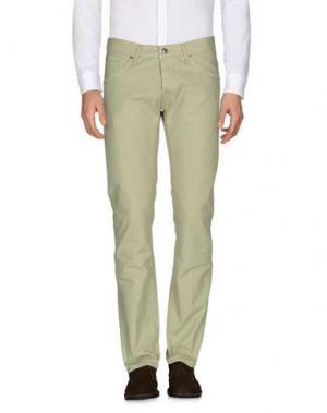 Повседневные брюки 2 MEN. Цвет: светло-зеленый