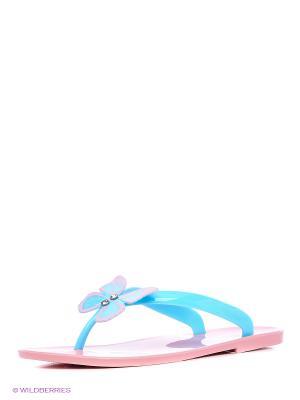 Шлепанцы Mon Ami. Цвет: розовый, голубой