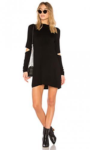 Платье с воротником-водолазка rent Michael Lauren. Цвет: черный