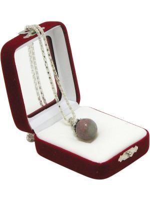 Аромакулон Фантазия, камень - родонит Aztek. Цвет: серый, розовый, серебристый