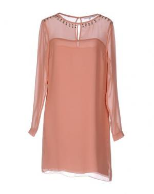 Короткое платье KORALLINE. Цвет: телесный