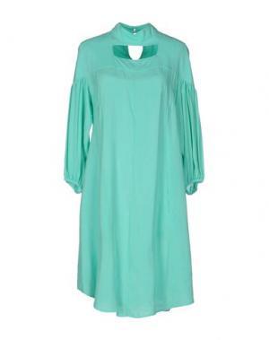 Короткое платье OBLIQUE CREATIONS. Цвет: зеленый