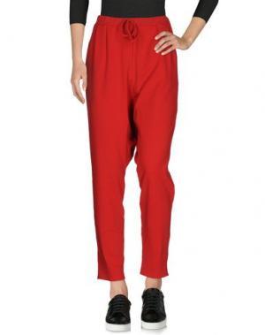 Повседневные брюки #HASHTAGMART. Цвет: красный