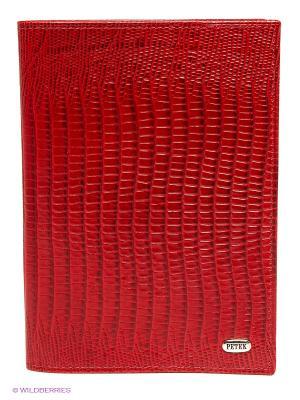 Обложка для паспорта Petek. Цвет: красный, фуксия