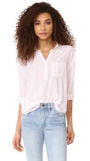 Рубашка с пуговицами Elle RAILS. Цвет: пион/белый